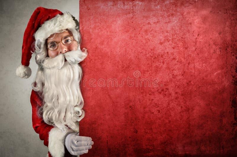 Het tonen van de Kerstman stock foto's