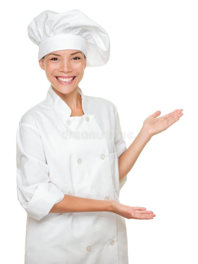 Het tonen van de kok/van de chef-kok royalty-vrije stock afbeeldingen