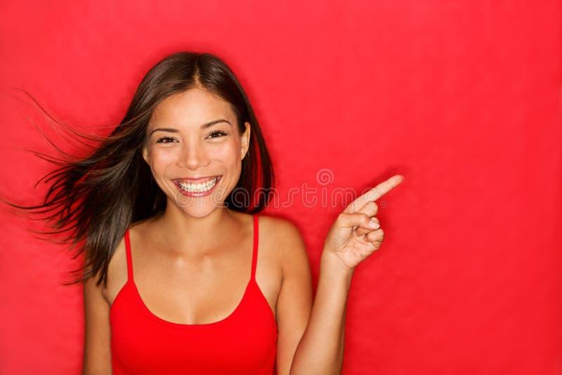 Het tonen van de vrouw stock afbeelding