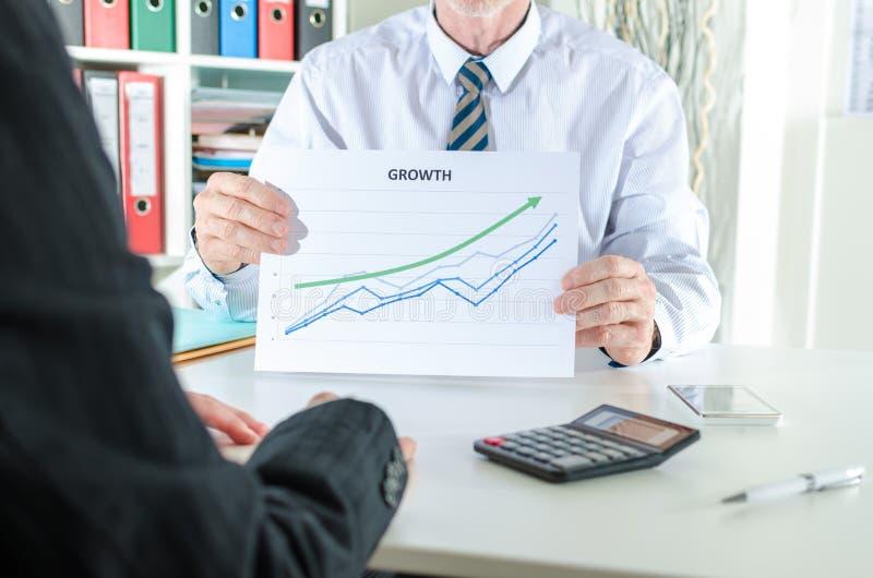 Het tonen van groeiende resultaten royalty-vrije stock foto