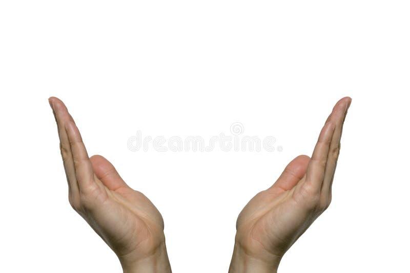Het tonen van hand stock afbeelding