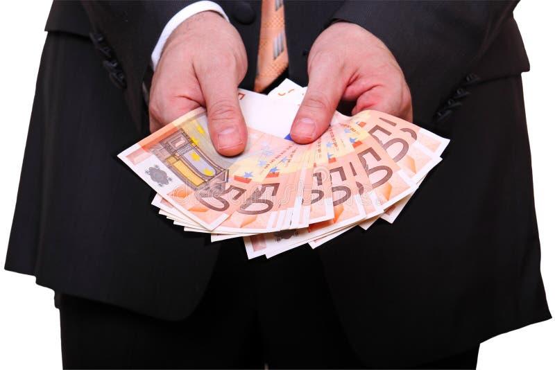 Het tonen van het geld royalty-vrije stock fotografie