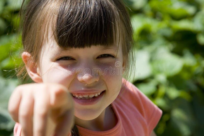 Het tonen van meisje stock fotografie