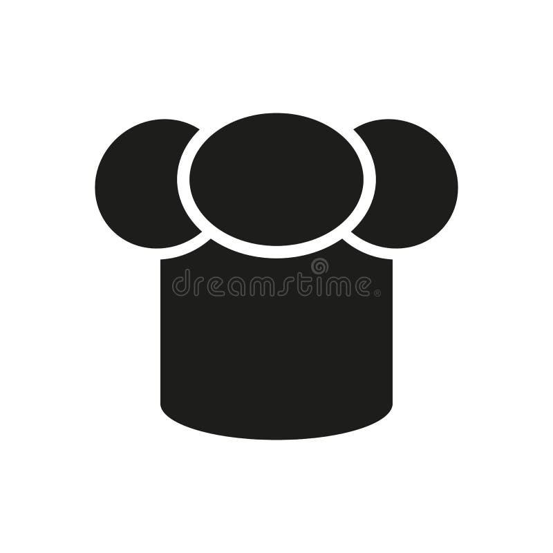 Het toque pictogram Chef-kok en koksymbool vlak stock illustratie
