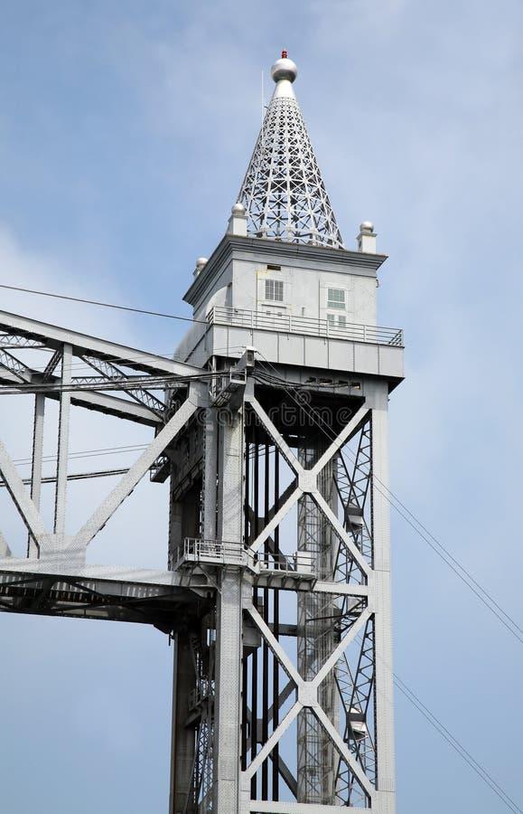 Het torentje van de spoorwegbrug stock fotografie