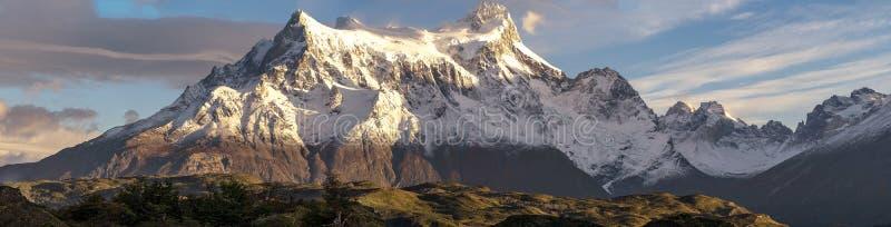 In het Torres del Paine nationale park, Patagonië, Chili stock afbeeldingen