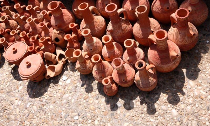 Het traditionele Aardewerk van het Terracotta, Libanon royalty-vrije stock afbeeldingen