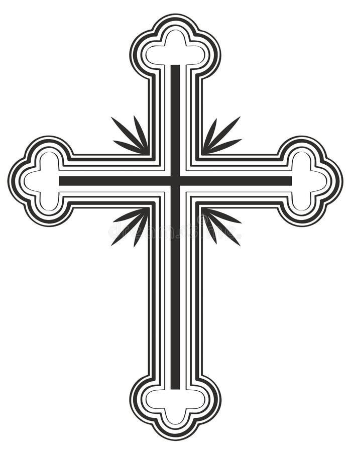 Het traditionele Armeense Apostolische art. van de Kerk dwarsklem stock illustratie