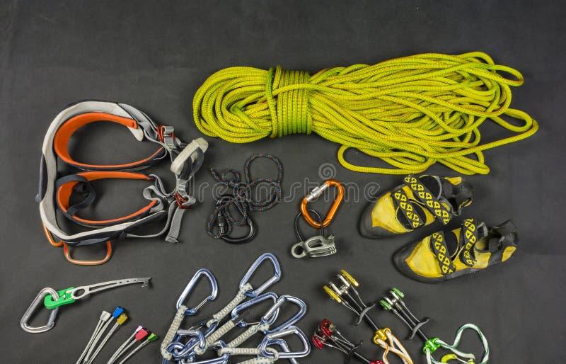 Het traditionele beklimmen - basismateriaal van de klimmer royalty-vrije stock fotografie