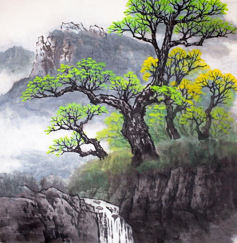 Het traditionele Chinese schilderen royalty-vrije illustratie