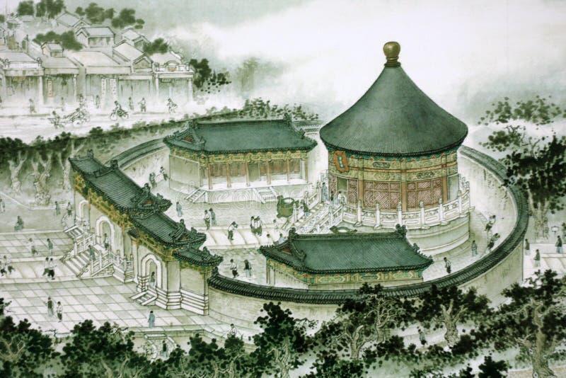 Het traditionele Chinese schilderen stock foto's