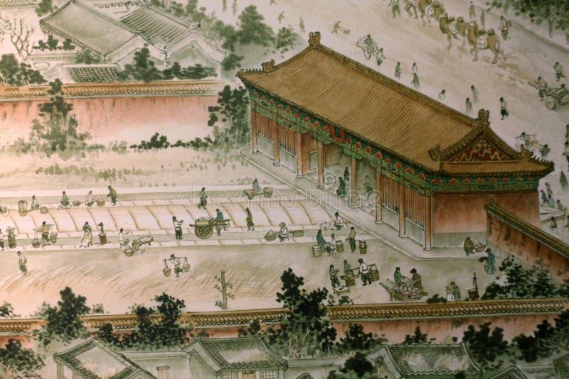 Het traditionele Chinese schilderen stock afbeeldingen