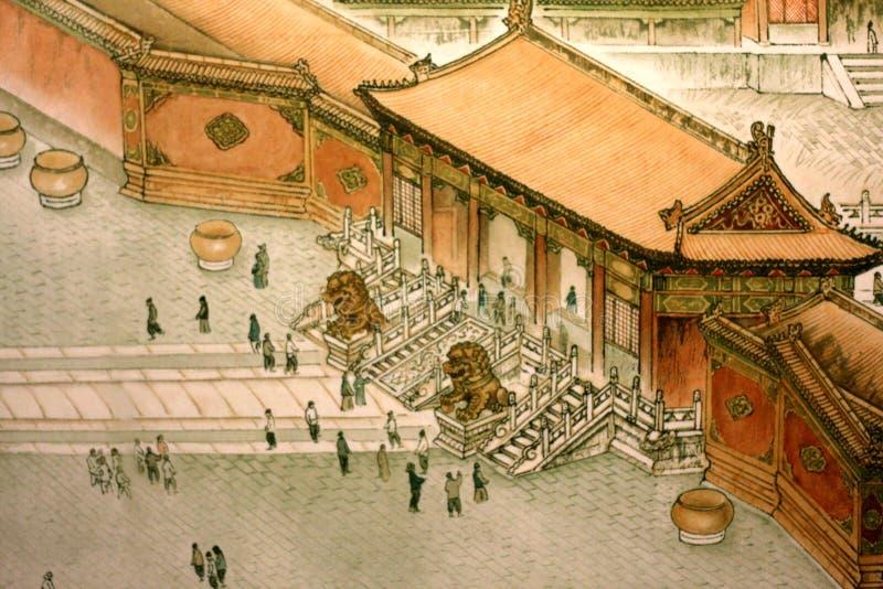 Het traditionele Chinese schilderen stock afbeelding