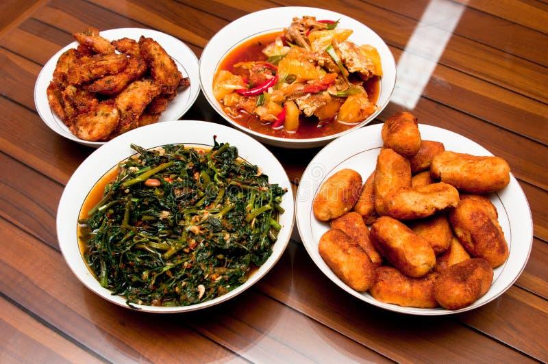 Het traditionele Heerlijke Gekookt voedsel van het Huis stock fotografie