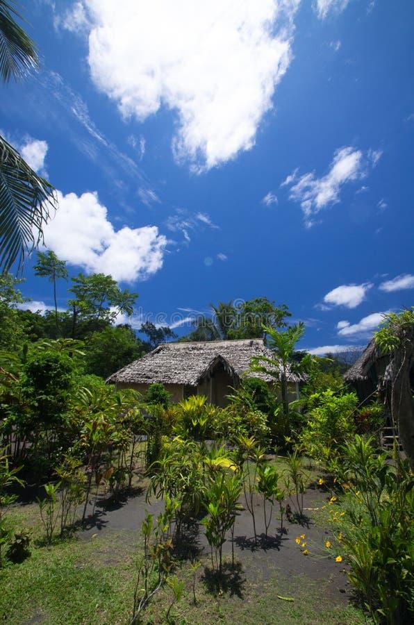 Het Traditionele Huis van Vanuatu royalty-vrije stock foto's