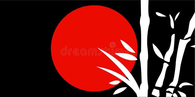 Het traditionele Japanse schilderen vector illustratie
