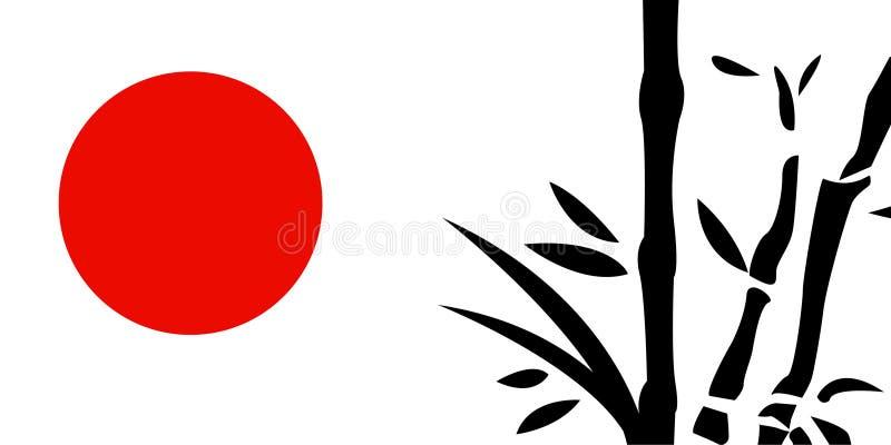 Het traditionele Japanse schilderen stock illustratie