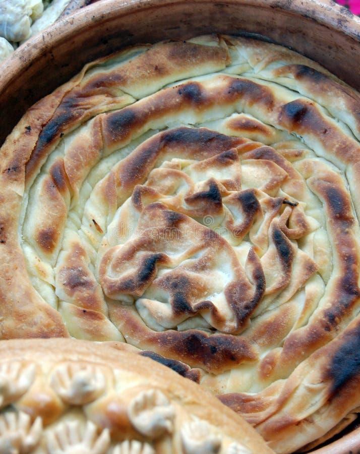 Het traditionele Macedoniër en voedsel van de Balkan, pastei stock afbeeldingen
