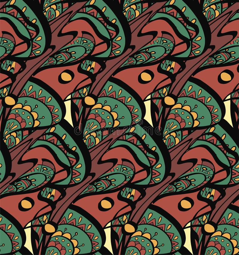 Het traditionele oosterse naadloze patroon van Paisley Uitstekende bloemenachtergrond Decoratieve ornamentachtergrond voor stof,  stock illustratie