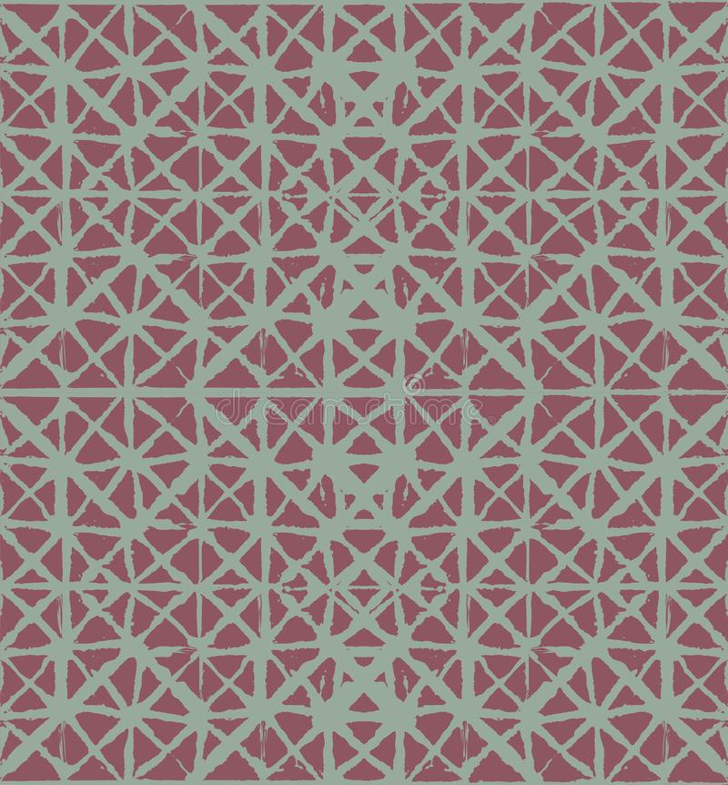 Het traditionele van de de Bandkleurstof van Japan van de het Ornament Organische Kimono Vector Naadloze Patroon De Textuur van d vector illustratie