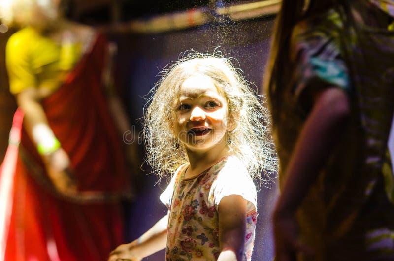 Het traditionele Vedic festival van Vaishnava - het festival van blokkenwagens van Ratha Yatra in Dnieper stock foto's