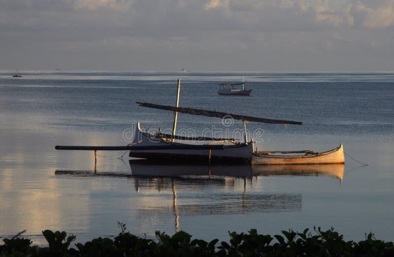 Het traditionele Vissersboten Rusten stock fotografie