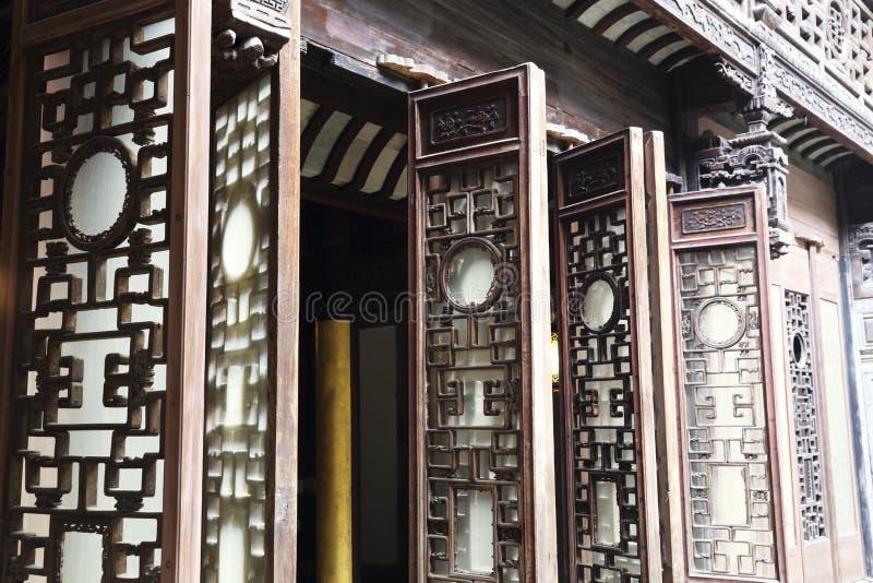 Het traditionele woodcarving art. van China stock afbeelding