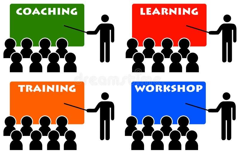 Het trainen en opleiding vector illustratie