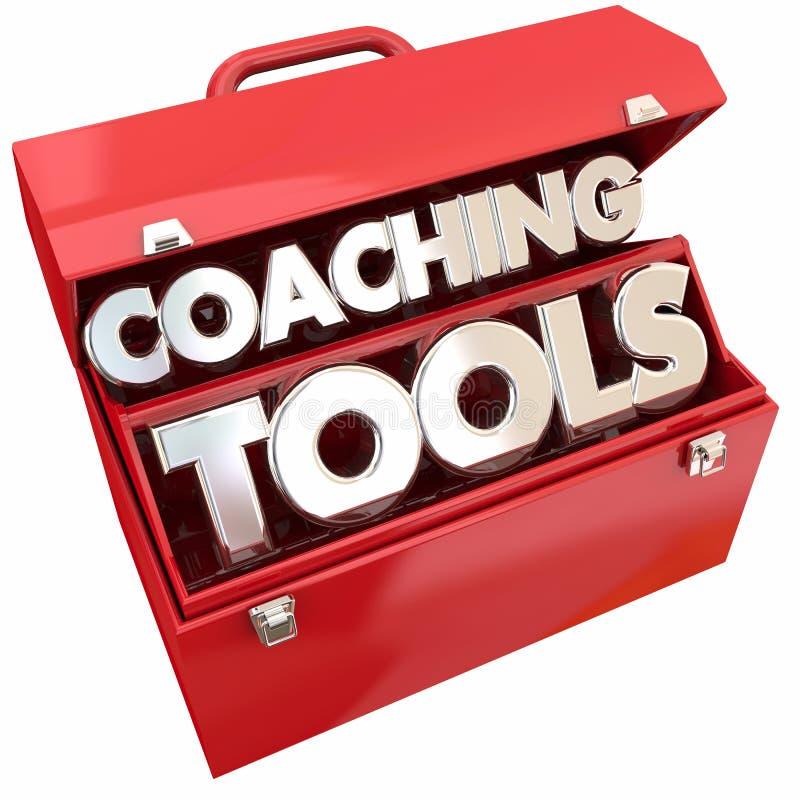 Het trainen Hulpmiddelen Team Building Leadership Toolbox royalty-vrije illustratie