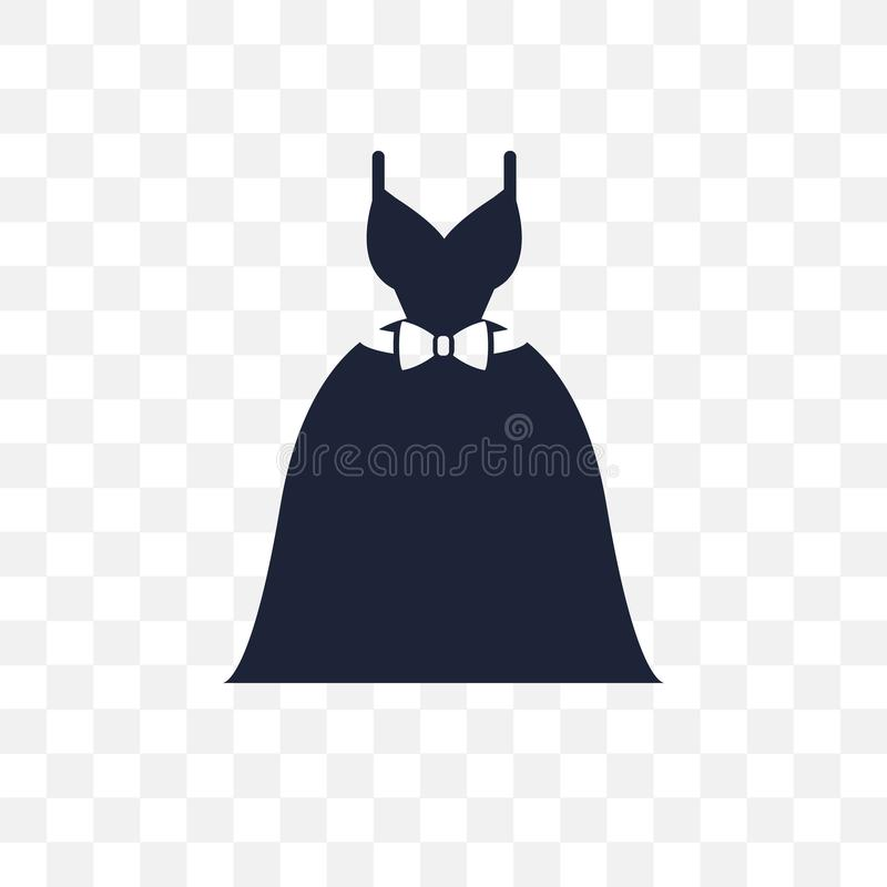 Het transparante pictogram van de huwelijkskleding Het symboolontwerp van de huwelijkskleding van vector illustratie