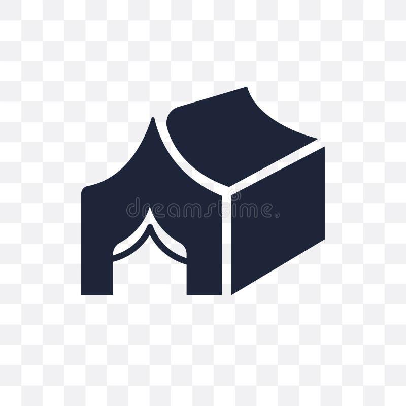 Het transparante pictogram van de Militartent Het symboolontwerp van de Militartent van A stock illustratie