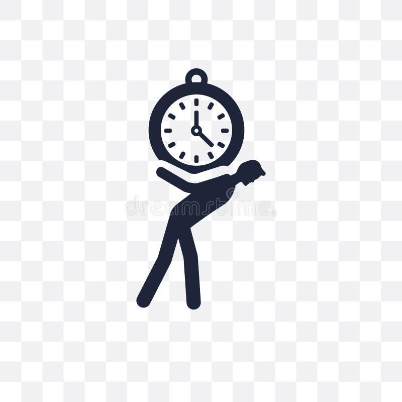 Het transparante pictogram van de tijddruk Het symboolontwerp van de tijddruk van royalty-vrije illustratie