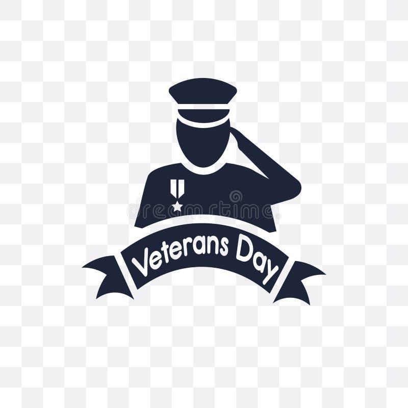 Het transparante pictogram van de veteranendag Het symboolontwerp van de veteranendag van U vector illustratie
