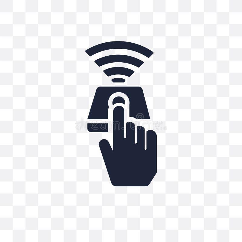 Het transparante pictogram van de vingercontrole Het symboolontwerp Fr van de vingercontrole vector illustratie