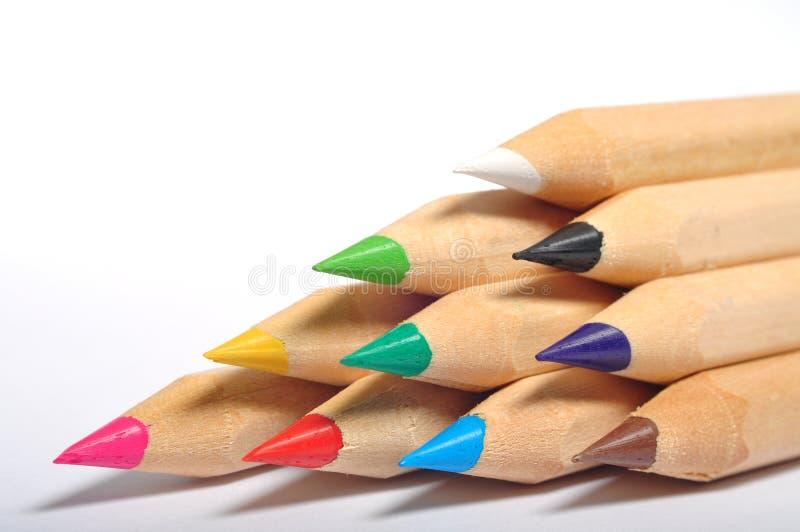 Het Trapezium van het kleurenpotlood stock foto's