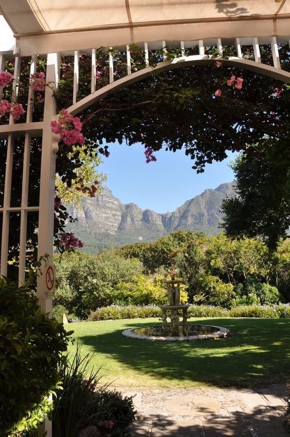 Het trefpunt Kaapstad van de bergmening stock foto