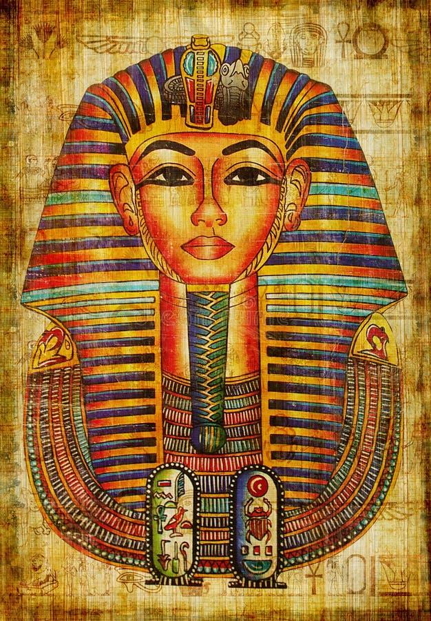 Het trekken van de farao royalty-vrije stock afbeelding