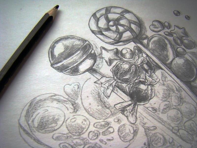 Het trekken van een schets vector illustratie