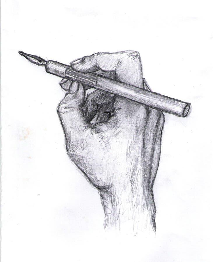 Het trekken van het schrijven hand vector illustratie