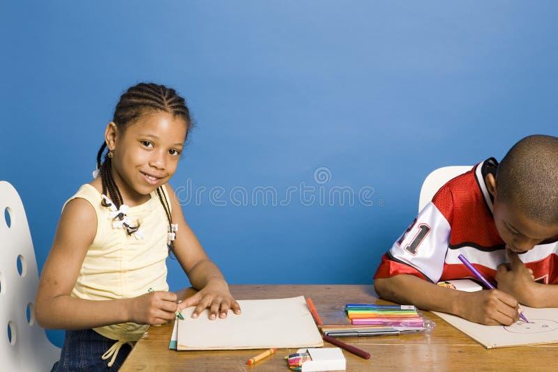 Het trekken van kinderen royalty-vrije stock foto