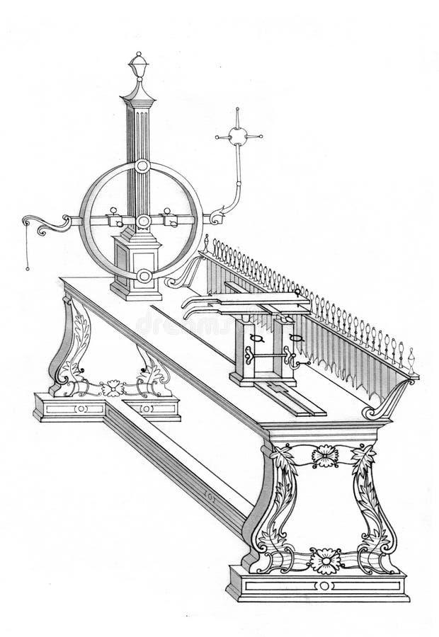 Het trekken van uitstekende machines vector illustratie