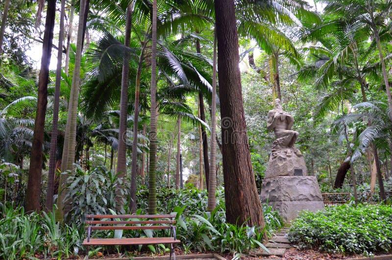 Het Trianon-Park op de Paulista-Weg, Sao Paulo, Brazilië stock foto
