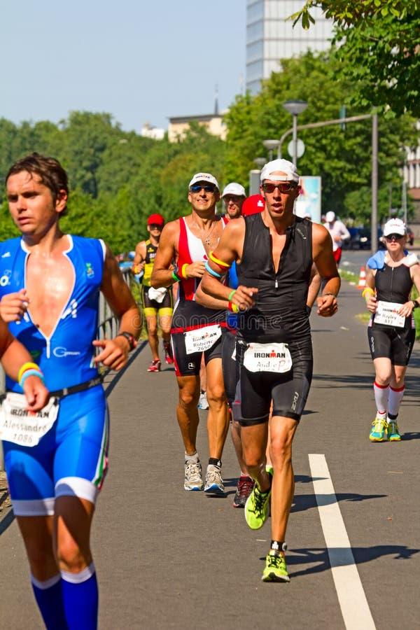 Het Triatlonkampioenschap 2013 van Frankfurt Ironman stock foto's