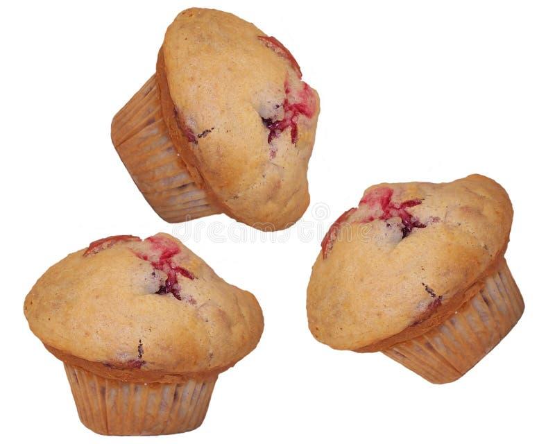 Het Trio van de muffin stock afbeelding