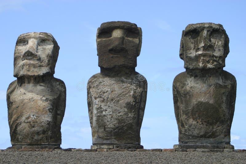 Het Trio van het Eiland van Pasen royalty-vrije stock afbeelding