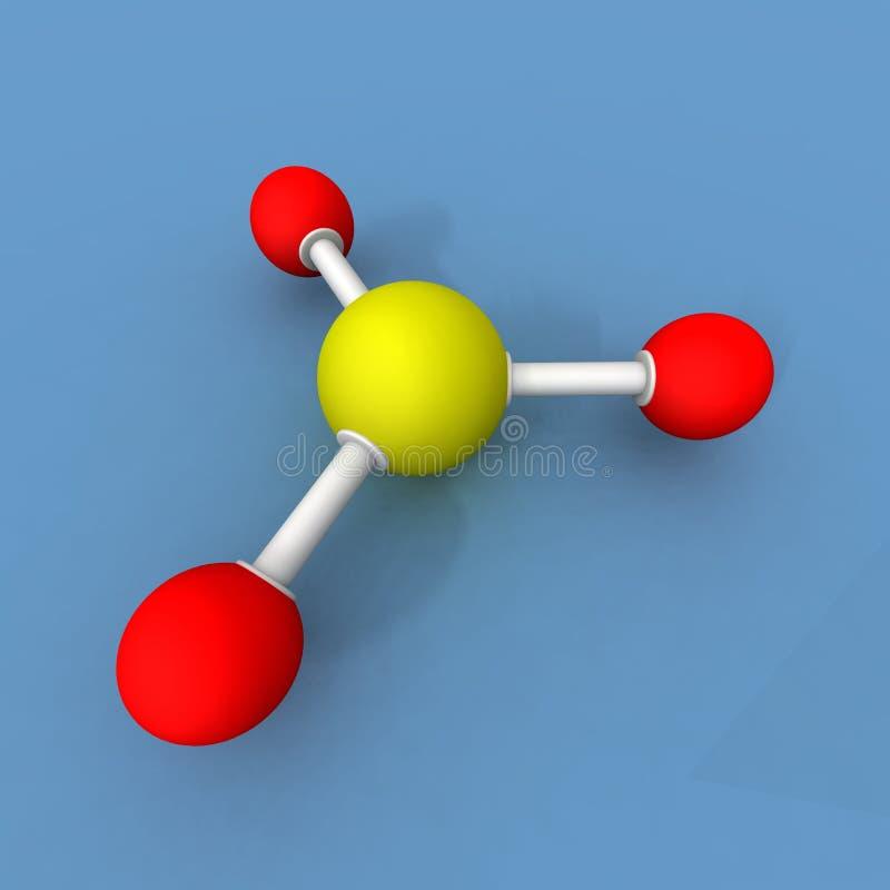Het trioxidemolecule van de zwavel stock illustratie