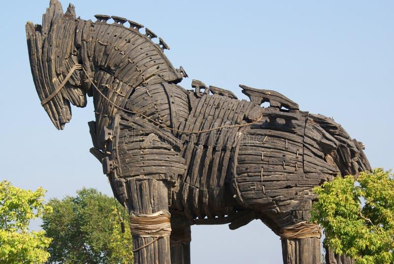 Het trojan paard stock foto