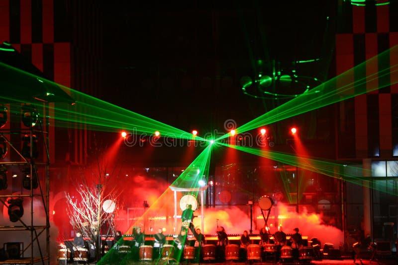 Het trommelen van de laser royalty-vrije stock afbeeldingen