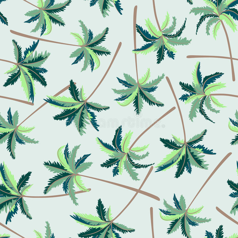 Het tropische Australische naadloze patroon van de vossestaartpalm royalty-vrije illustratie