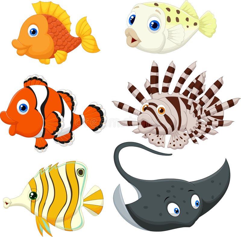Het tropische Beeldverhaal van Vissen stock illustratie